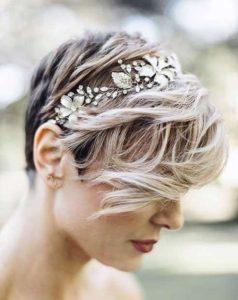 peinados de novia modernos pelo corto
