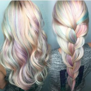peinados mechas de colores