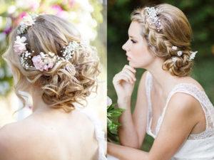 peinados novia media melena