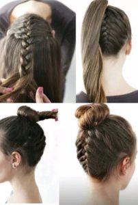 peinados para cabello largo con coleta