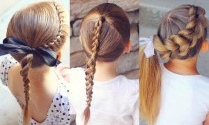 peinados para niñas colegiales