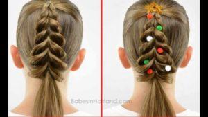 peinados para niñas navidad
