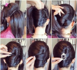 peinados pelo largo elegante