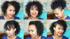 peinados pelo rizado corto