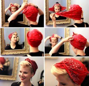 peinados pin up con pañuelo