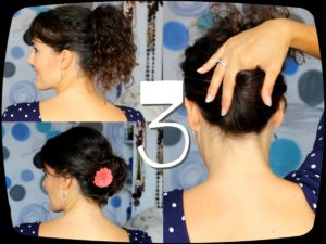 peinados recogidos pelo rizado