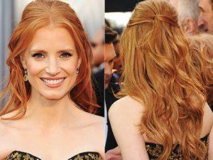 peinados semirecogiods pelo largo
