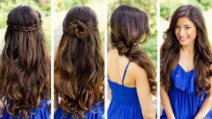 peinados semirecgidos para pelo largo
