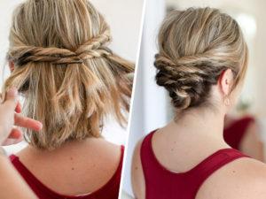 peinados sencillos melena corta