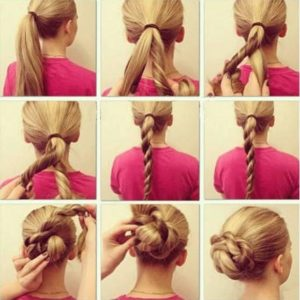peinados sencillos pelo largo