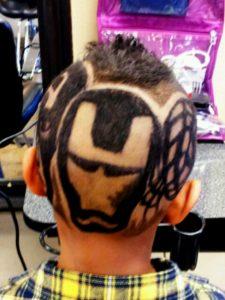 cortes de pelo con figuras para niños