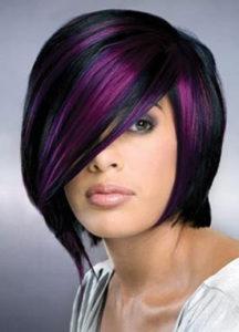 cortes de pelo corto bob con colores