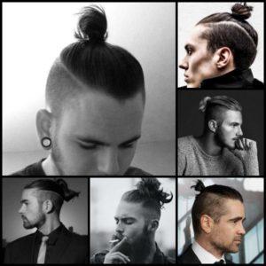 cortes de pelo corto con coleta hombres