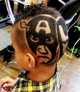 cortes de pelo para niños con figuras