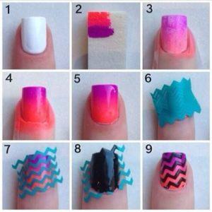cintas adhesivas diseños de uñas