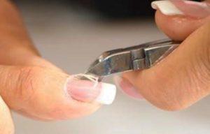 como cortar correctamente la cuticula