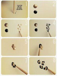 como pintar las uñas animal print
