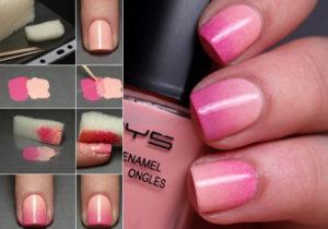como pintarse las uñas degradadas