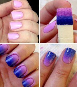 como pintarse las uñas con esponja