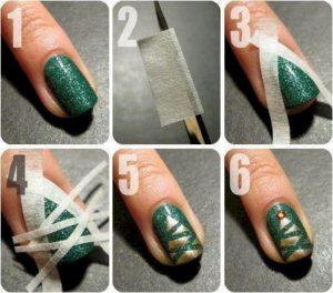 diseños de uñas con cinta