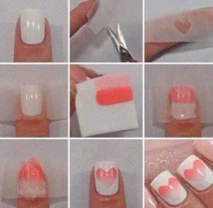 diseños de uñas con cinta adhesiva