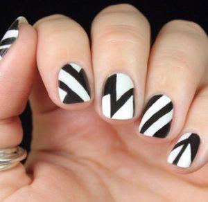 diseños de uñas con lineas rectas