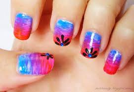 diseños de uñas con pincel abanico
