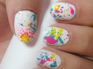diseños de uñas salpicadas