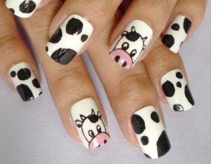 uñas decoradas con animales