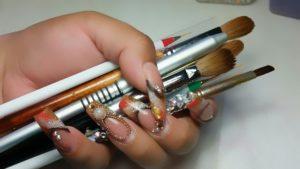 pinceles para uñas acrilicas