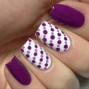 uñas decoradas polka dots