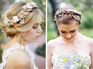 recogidos con flores para novias