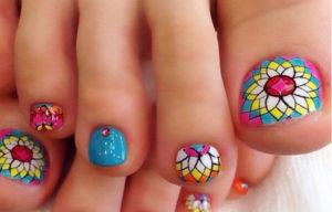 uñas bonitas de los pies