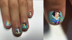 uñas bonitas para niñas con stikers
