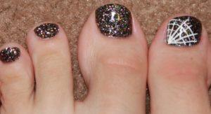uñas de porcelana en los pies