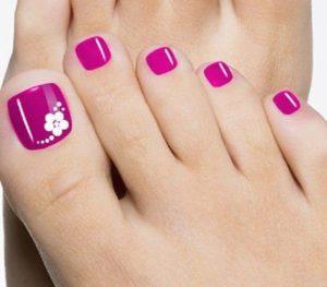 uñas d eporcelana en los pies