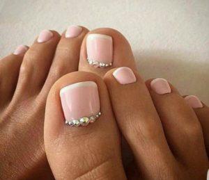 uñas de porcelana para los pies