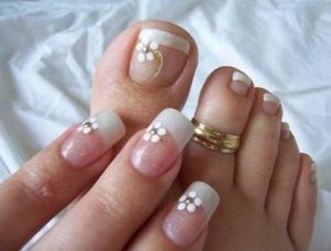 uñas de porcelana pies