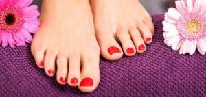 uñas semipermanentes en los pies