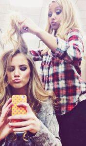 Adolescentes y sus peinados