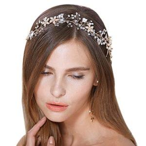Diadema con perlas y brillantes