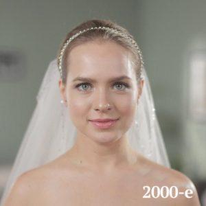 Historia de los peinados de boda. 2000