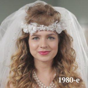 Historia de los peinados de boda. 80's