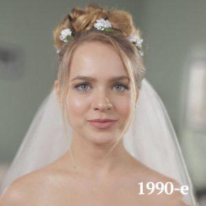 Historia de los peinados de boda. 90's