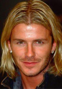 Largo peinado de Beckham