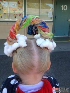 Peinado arcoíris