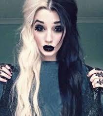 Peinado blanco y negro halloween