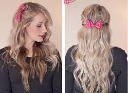 Peinado casual con lazo