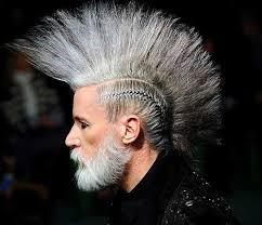 Peinado con cresta