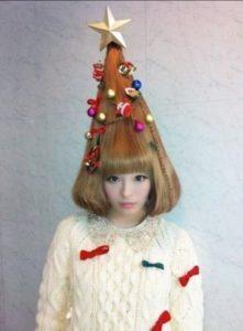 Peinados con forma de árbol de navidad
